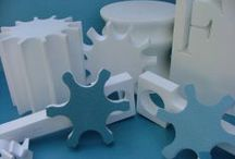Architectural Shapes / Architectural shapes made of foam: columns, SIPs, crown moldings