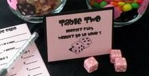 Bunco Party Ideas / Planning a Bunco Night with your friends? You'll love all the ideas we found for decorations, printables, gifts, and food & drink recipes.