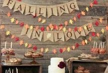 Fall Wedding / Rich colors, falling leaves, crisp air, and cozy bon fires. Get inspired and fall in love with these fabulous autumn wedding ideas.