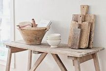 Rustic Charm / Reclaimed wood and natural textures for that relaxed countryside feel.