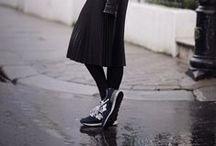 ELLE // Look . Mid .  Long skirt