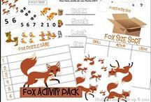 Fox ~ DIY Crafts, Lessons, Coloring / Inspiration based off of Reddy Fox, character in the Thornton W. Burgess books. Classic literature for kids, animal stories for children.