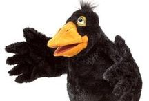 Crow ~ Toys, Games, Plush / Crow/Raven toys, games, plush stuffed animals and puppets: inspiration from Blacky the Crow; character in the Thornton W. Burgess books.