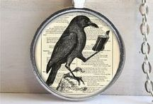 Crow ~ Clothing, Accessories / Fashion with crows: from clothing, jewelry, purses, costumes. Inspiration from Blacky the Crow; character in the Thornton W. Burgess books.