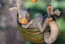 Squirrel ~ Decor / Squirrel home and living decor: inspiration from Chatterer and Happy Jack; characters in the Thornton W. Burgess books.