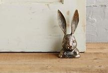 Rabbit ~ Decor / Bunny Rabbit home and living decor: inspiration from Peter Rabbit; character in the Thornton W. Burgess books.