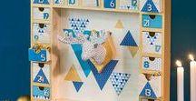 Noël Nordic / Inspirée de la tendance Scandinave, la collection Noël Nordic mixe modernité et esprit nature avec des matières authentiques telles que le bois, le béton ou le kraft. Le vent du Nord soufflera des designs graphiques où l'or illumine toute cette palette de bleus. A découvrir : 8 pas à pas créatifs sur ce thème dont un sapin graphique, des bougies déco, une couronne étoilée et bien d'autres projets … Joyeuses fêtes de Noël à tous !
