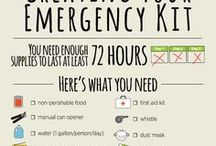 Emergency and Survival Kits / Kits you can put together and purchase that will help you through emergency situations.