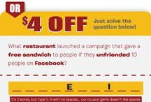 Mr. Delivery Coupon Riddles / Some of our favorites... fyi these have expired unless otherwise noted.