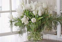 Lavender and Roses / Vintage Flowers