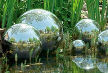 FOUNTAINS AND GAZING BALLS / by Mary Dumke