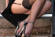 Luscious legs and killer heels / stockings, heels, garters, jewellery, lingerie and more