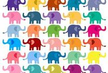 CLIP ART / Elephant / Elmer Mix / by Pia