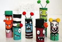 DIY - Monstres ! / Activités éducatives et créatives pour les enfants, conseils pédagogiques, d'inspiration Montessori. Pour jouer, créer, explorer !