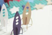 DIY - L'Espace / Activités éducatives et créatives pour les enfants, d'inspiration Montessori.  La Chouette part en mission dans l'espace pour rapporter les plus chouettes créations de l'univers !