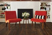 Homey Hearth / Warm up your home this fall with comforting, festive touches to your fireplace.