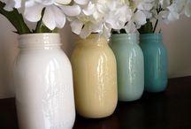 DIY: Flowers, candles & vases