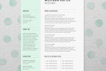 Creative Resumes/CVs / Inspiration for a creative resume or CV