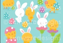 Mygrafico Easter & Spring Cliparts / by Mygrafico Digitals