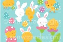 Mygrafico Easter & Spring Cliparts / by Mygrafico Digitals