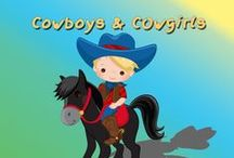 Cowboy & Western Cliparts, Printables and Party Ideas / Cowboys, Cowgirls and Western graphics / by Mygrafico Digitals