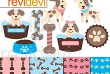 Puppy Party Clipart and Party Ideas / by Mygrafico Digitals
