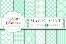 Mint Color Inspiration & Graphics / by Mygrafico Digitals