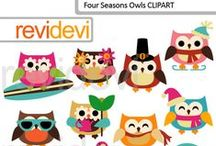 Mygrafico Hootin' Owls Clipart / by Mygrafico Digitals