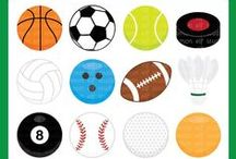 Sports Graphics at Mygrafico / All things Sports - Graphics, cCpart, Digital downloads, Instant Downloads, Kids Activities / by Mygrafico Digitals