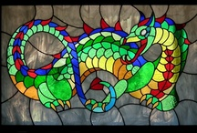 Stained glass look