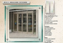 Full Framed Clad Doors / PRL Glass manufactures clad entrance doors as a luxurious alternative to a standard storefront system.The elegant full framed clad doors are normally used in commercial buildings and monumental entrances.