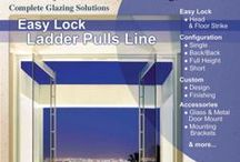 Ladder Pulls & Door Handles / PRL Glass System's standard and commercial easy lock ladder pulls and door handles offer a significant degree of design flexibility to complement our tempered glass entrance doors and architectural frame systems.