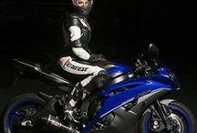 Biker girls / Women on motorcycles, women with motorhelmet, women on motorcycles in leather.