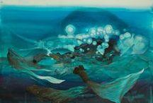 """Aquamarine"" Exhibition / http://aarongallerydc.com/april-2015.html"