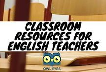 Classroom Resources for English Teachers / Find lesson plans, teaching guides, classroom activities, and hundreds of annotated texts with in-line analysis at OwlEyes.org