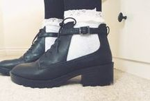 Pumps/heels/Shoes ♡ / Pumps, heels, boots, oxfords, flats, sandals, Vanz, converse, sneakers, flip-flops, sandals, Uggs, Doc Martens, ect.  / by Echo Rhorer