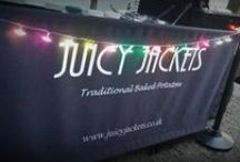 Jacket Potato Weddings / Catering with a difference adding a twist of inidividuality to your wedding catering. Juicy Jackets are the UKs premier traditional jacket potato wedding caterers