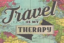 Words / Travel quotes and typographic inspiration to inspire wanderlust.