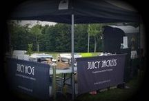 The Ultimate Catering Combo Juicy Jackets and Juicy Hog / The Ultimate Catering Combo is the idea catering solution for those looking to cater for meat eaters and vegetarians alike. Free range hog roast and our traditional jacket potato catering service. The must have unique concept that is sweeping the nation. Get your quote now - www.juicyjackets.co.uk  www.juicyhog.co.uk
