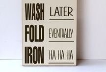 Laundry Spances Ideas / Let's bring joy while washing or ironing the clothes :)
