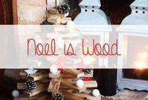 Noël is Wood / Décorations de Noël d'inspiration nature, bois, kinfolk pour l'intérieur et l'extérieur de votre maison Le bois apporte de la chaleur à votre décoration. La convivialité conférée par le bois est très appréciée lors des fêtes de Noël. Déco en bois, DIY en bois : tout est conseillé!