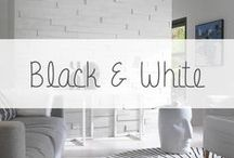 """Inspiration """"Le noir et blanc"""" / Le noir et blanc est un grand classique indémodable! Dans la mode, il fait régulièrement des apparitions aussi bien l'été que l'hiver. Dans la décoration : optez aussi pour le black and white! En déco, le noir et blanc se suffit à lui-même mais peut également être associé à quelques éléments très peps : une lampe rose, un coussin jaune etc. Adoptez le noir et blanc sur vos murs grâce aux parement bois Imberty."""
