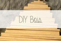 DIY en bois / Retrouvez ici tous les DIY en bois : DIY porte-manteaux, DIY tête de lit, DIY sapin de Noël, DIY étagère tipi. Intégrez le bois dans votre intérieur! Le bois est tendance et intemporel. #diy  #bois