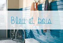 """Inspiration """"Le bleu"""" / Associer le bleu au bois pour un univers zen et résolument moderne. Du bleu turquoise au bleu serenity de Pantone, le bleu s'invite dans votre intérieur."""