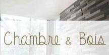 """Chambre Bois & Déco / Le bois est un matériau idéal pour une jolie chambre à coucher, pour les adultes comme pour les enfants. La douceur du bois d""""un parquet sous les pieds au réveil, la chaleur d'un cocon quand le bois monte aux murs..."""