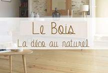 Bois et Déco nature / Le bois brut, dans sa plus simple expression, chouchou des designers. Le bois naturel reflète les goûts actuels pour l'écologie, le retour aux sources et à la simplicité. Allié parfait pour une déco contemporaine version nature !