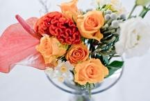 Floral arrangements / wedding ideas - orange and yellow themed floral deco arrangements by Phenology (Floral Boutique)
