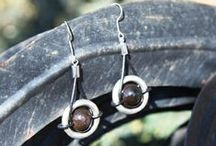 Earrings / From ceramic beads