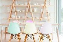 pastel colors interiors / pastel colours inspiration