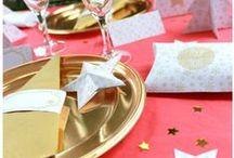 Décoration de Noël - Kit à imprimer - Printable Christmas / Décorations de table de Noël à imprimer. Sweet table christmas printable Décoration de fête de Noël, kit à imprimer.